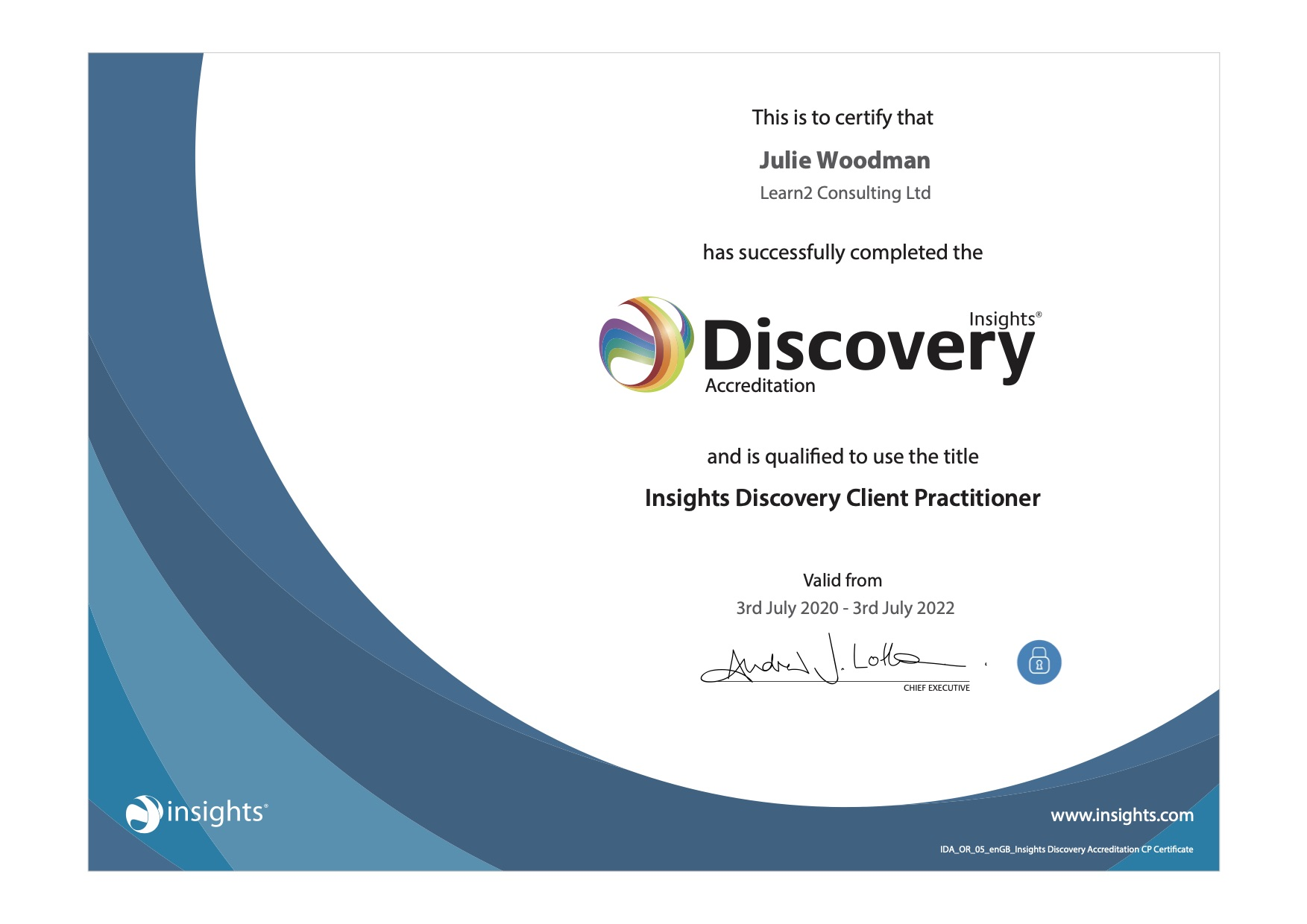 IDA certificate for website